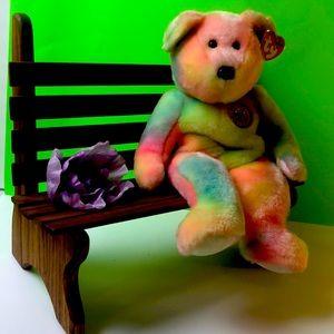 BB BEAR BIRTHDAY BEAR  Ty-dye Ty  Buddy - Rainbow